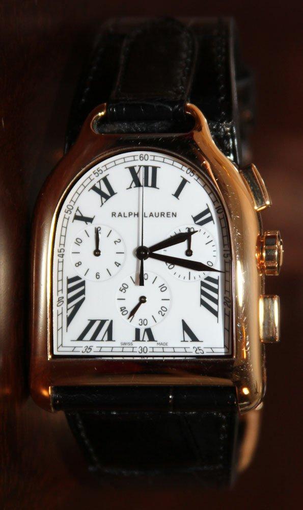 ralph lauren stirrup chronograph watch luxury watches