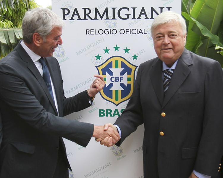 Jean-Marc Jacot CEO Parmigiani Fleurier and Ricardo Teixeira Pres of Confederacao Brasileira de Futebol