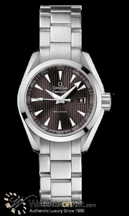 Omega Aqua Terra  Quartz Women's Watch, Stainless Steel, Black Dial, 231.10.30.60.06.001