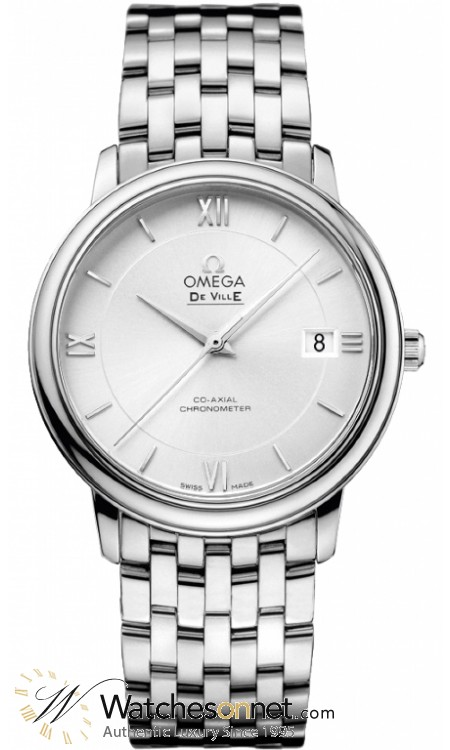 Omega De Ville  Automatic Men's Watch, Stainless Steel, Silver Dial, 424.10.37.20.02.001