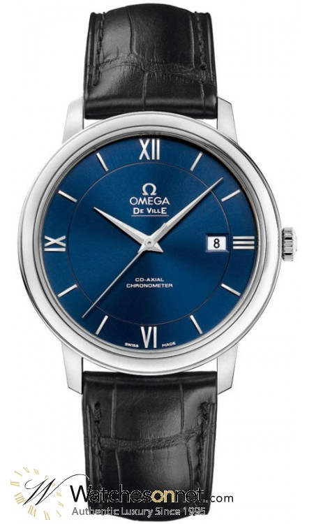 Omega De Ville  Automatic Men's Watch, Stainless Steel, Blue Dial, 424.13.40.20.03.001