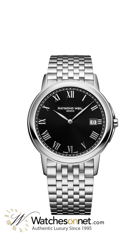 Raymond Weil Tradition  Quartz Men's Watch, Stainless Steel, Black Dial, 5466-ST-00208