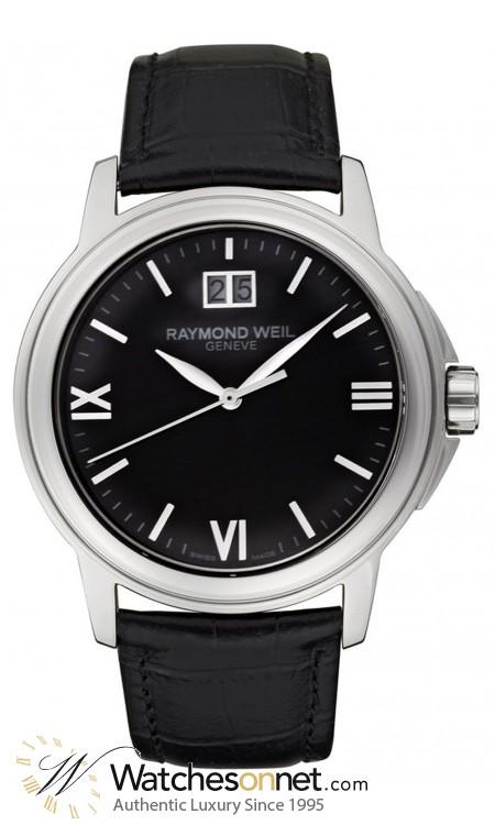 Raymond Weil Tradition  Quartz Men's Watch, Stainless Steel, Black Dial, 5576-st-00207