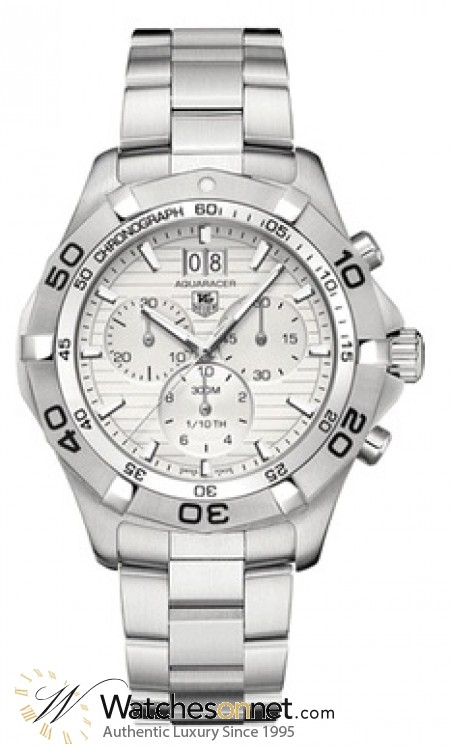 Tag Heuer Aquaracer  Chronograph Quartz Men's Watch, Stainless Steel, Silver Dial, CAF101F.BA0821