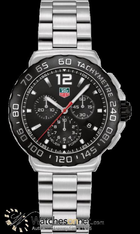 Tag Heuer Formula 1  Chronograph Quartz Men's Watch, Stainless Steel, Black Dial, CAU1110.BA0858