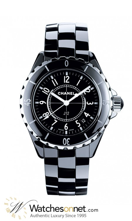 Chanel J12 Classic  Quartz Women's Watch, Ceramic, Black Dial, H0682