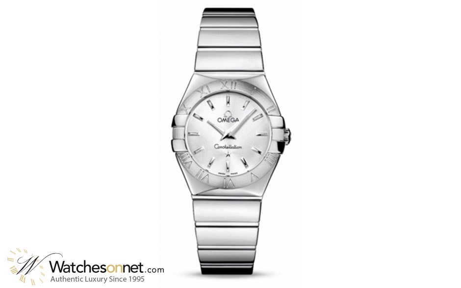 Omega Constellation  Quartz Women's Watch, Stainless Steel, Silver Dial, 123.10.27.60.02.002