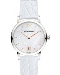 Montblanc Star Classique Lady  Quartz Women's Watch, Stainless Steel, White Mother Of Pearl Dial, 108765