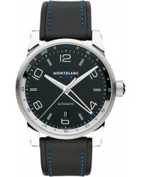 Montblanc Timewalker Voyager UTC - Special Edition  Automatic Men's Watch, Stainless Steel, Black Dial, 109334