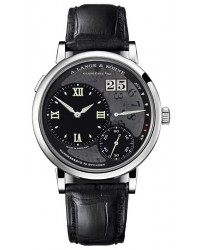 A. Lange & Sohne Grand Lange 1 Limited Edition  Manual Winding Men's Watch, Platinum, Black Dial, 117.035