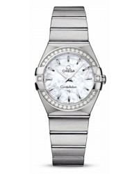 Omega Constellation  Quartz Women's Watch, Stainless Steel, Mother Of Pearl Dial, 123.15.27.60.05.001