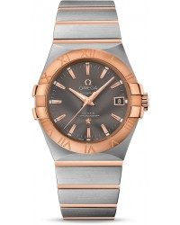 Omega Constellation  Automatic Men's Watch, Steel & 18K Rose Gold, Grey Dial, 123.20.35.20.06.002