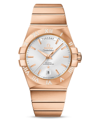 Omega Constellation  Automatic Men's Watch, 18K Rose Gold, Silver Dial, 123.55.38.22.02.001