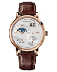A. Lange & Sohne Grand Lange 1  Manual Winding Men's Watch, 18K Rose Gold, Silver Dial, 139.032