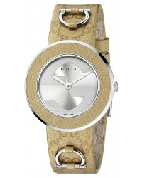 Gucci U-Play  Quartz Women's Watch, Stainless Steel, Silver Dial, YA129408