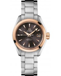 Omega Aqua Terra  Automatic Women's Watch, 18K Rose Gold, Grey Dial, 231.20.30.20.06.003