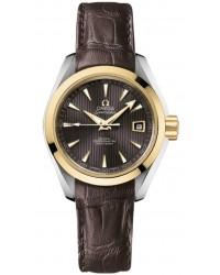 Omega Aqua Terra  Automatic Women's Watch, 18K Yellow Gold, Grey Dial, 231.23.30.20.06.002