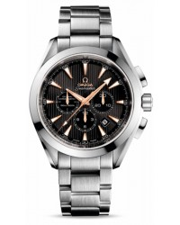 Omega Aqua Terra  Chronograph Automatic Men's Watch, 18K White Gold, Grey Dial, 231.50.44.50.01.001
