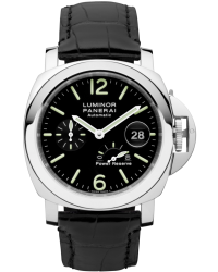 Panerai Luminor  Automatic With Power Reserve Men's Watch, Stainless Steel, Black Dial, PAM00090