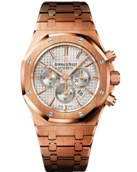 Audemars Piguet Royal Oak  Chronograph Automatic Men's Watch, 18K Rose Gold, Silver Dial, 26320OR.OO.1220OR.02