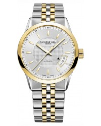Raymond Weil Freelancer  Automatic Men's Watch, Gold Plated, Silver Dial, 2770-STP-65021