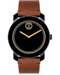 Movado Bold  Quartz Men's Watch, Stainless Steel, Black Dial, 3600274