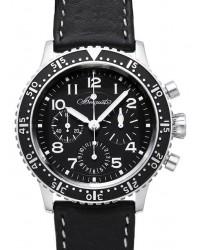 Breguet Type XX  Chronograph Automatic Men's Watch, Titanium, Black Dial, 3810TI/H2/3ZU