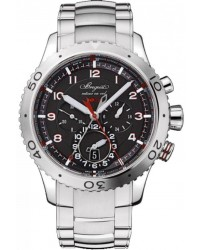 Breguet Type XX  Chronograph Automatic Men's Watch, Stainless Steel, Black Dial, 3880ST/H2/SX0