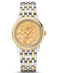Omega De Ville  Quartz Women's Watch, Steel & 18K Yellow Gold, Gold Dial, 424.20.27.60.58.002