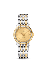 Omega De Ville  Quartz Women's Watch, Stainless Steel, Champagne Dial, 424.20.27.60.08.001