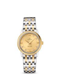 Omega De Ville  Quartz Women's Watch, Stainless Steel, Champagne Dial, 424.20.27.60.58.001