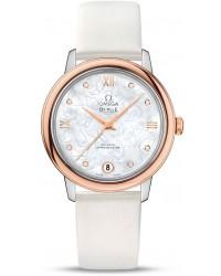 Omega De Ville  Automatic Women's Watch, Steel & 18K Rose Gold, Silver Dial, 424.22.33.20.55.001