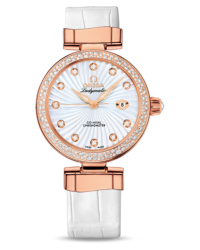 Omega De Ville Ladymatic  Automatic Women's Watch, 18K Rose Gold, Brown & Diamonds Dial, 425.65.34.20.63.002