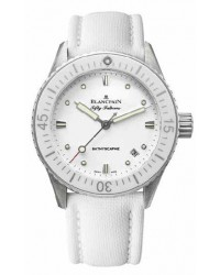 Blancpain Fifty Fathoms Bathyscaphe   Women's Watch, Stainless Steel, White Dial, 5100-1127-W52A