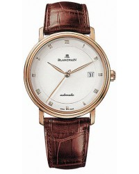 Blancpain Villeret  Automatic Men's Watch, 18K Rose Gold, White Dial, 6223-3642-55