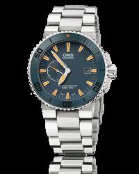 Oris   Automatic Men's Watch, Titanium, Blue Dial, 643-7654-7185-Set-MB