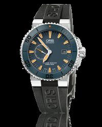 Oris   Automatic Men's Watch, Titanium, Blue Dial, 643-7654-7185-Set-RS