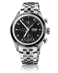 Oris   Chronograph Automatic Men's Watch, Stainless Steel, Black Dial, 674-7661-4154-07-8-22-85