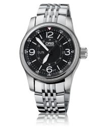 Oris Big Crown  Automatic Men's Watch, Stainless Steel, Black Dial, 735-7660-4064-07-8-22-76