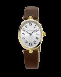 Frederique Constant Art Deco  Quartz Women's Watch, 18K Gold Plated, Silver Dial, FC-200A2V5