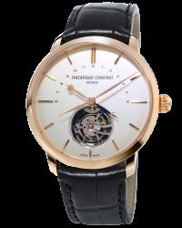 Frederique Constant Tourbillon  Automatic Men's Watch, 18K Rose Gold, Silver Dial, FC-980V4S9