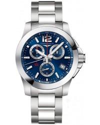 Longines Conquest  Quartz Men's Watch, Stainless Steel, Blue Dial, L3.700.4.96.6