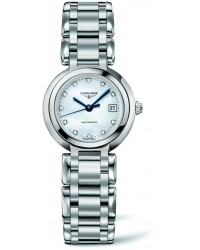 Longines PrimaLuna  Automatic Women's Watch, Stainless Steel, Mother Of Pearl & Diamonds Dial, L8.111.4.87.6