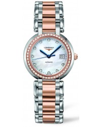 Longines PrimaLuna  Automatic Women's Watch, Stainless Steel, Mother Of Pearl & Diamonds Dial, L8.113.5.89.6