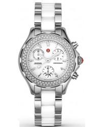 Michele Ceramics  Chronograph Quartz Women's Watch, Steel & Ceramic, White Dial, MWW12C000001