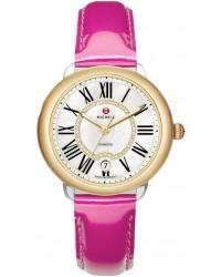 Michele Serein  Quartz Women's Watch, 18K Yellow Gold, Mother Of Pearl & Diamonds Dial, MWW21B000021