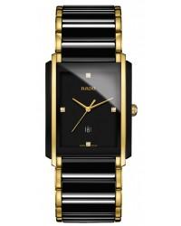 Rado Integral  Quartz Unisex Watch, Ceramic, Black & Diamonds Dial, R20204712