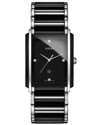 Rado Integral  Quartz Unisex Watch, Ceramic, Black & Diamonds Dial, R20206712