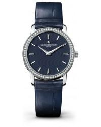 Vacheron Constantin Patrimony Traditionnelle  Quartz Women's Watch, 18K White Gold, Blue Dial, 25558/000G-9758