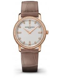Vacheron Constantin Patrimony Traditionnelle  Quartz Women's Watch, 18K Rose Gold, White & Diamonds Dial, 25558/000R-9406